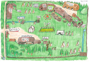 Viking village map 2016. © Dan Westin
